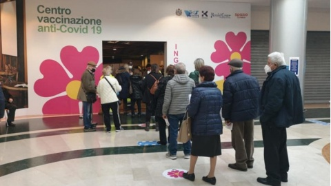campagna vaccinale al Rossini Center
